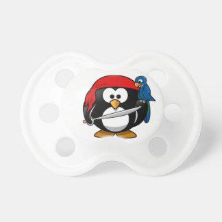 Pingüino del pirata chupete de bebe