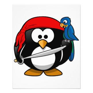Pingüino del pirata tarjetones