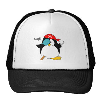 Pingüino del pirata gorras