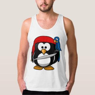 Pingüino del pirata playeras de tirantes