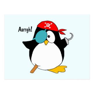 Pingüino del pirata postales