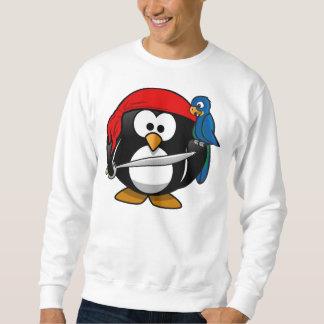 Pingüino del pirata sudaderas encapuchadas