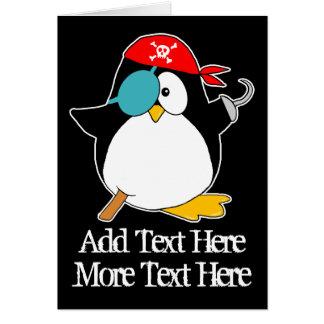 Pingüino del pirata tarjetas