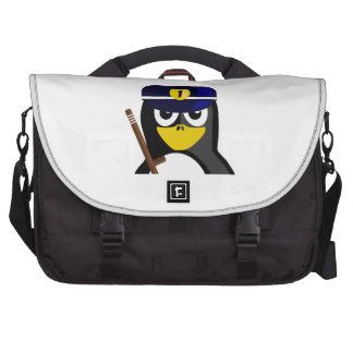 Pingüino del policía bolsas de portatil