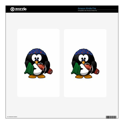 Pingüino del salvavidas skin para kindle fire