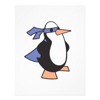 pingüino del superhéroe tarjetones