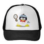 Pingüino del tenis gorras