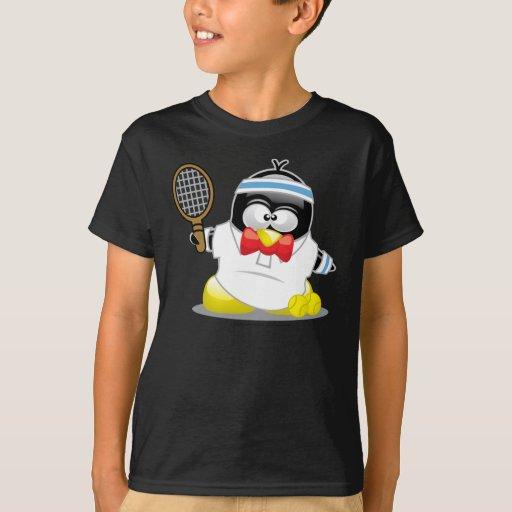 Pingüino del tenis playera