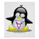 Pingüino del transexual posters