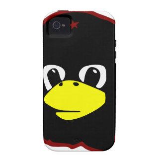 pingüino del tux del linux del guevara del che iPhone 4/4S carcasas