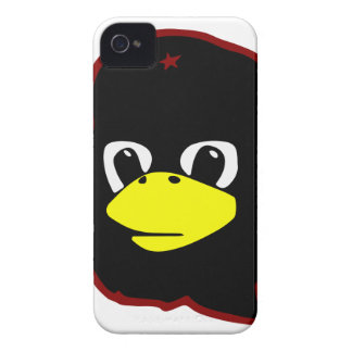 pingüino del tux del linux del guevara del che iPhone 4 Case-Mate cárcasas