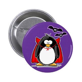 Pingüino del vampiro pin redondo 5 cm