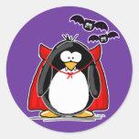 Pingüino del vampiro etiquetas redondas