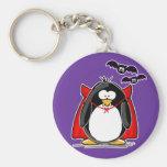 Pingüino del vampiro llaveros personalizados
