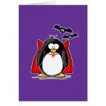 Pingüino del vampiro tarjeta