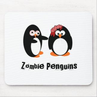 Pingüino del zombi alfombrillas de raton