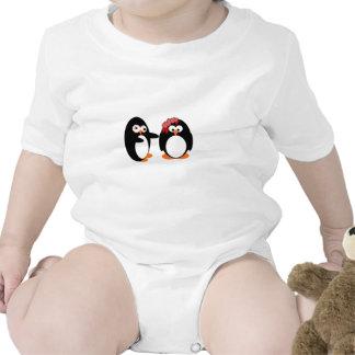 Pingüino del zombi traje de bebé