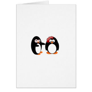 Pingüino del zombi tarjeta