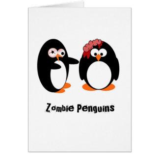 Pingüino del zombi tarjetas