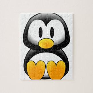 Pingüino divertido lindo del bebé rompecabezas