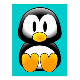 Pingüino divertido lindo del bebé tarjetas postales