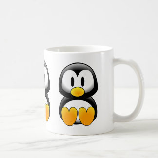 Pingüino divertido lindo del bebé tazas