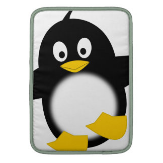 Pingüino divertido lindo funda para macbook air