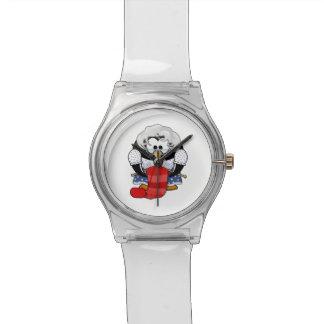 Pingüino dulce de la abuela del dibujo animado relojes de mano