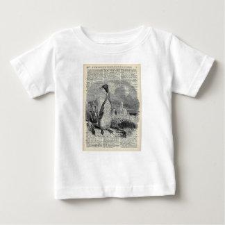 Pingüino en arte ártico del vintage tee shirts