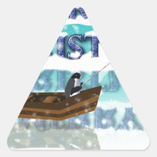pingüino en boat.jpg pegatina triangular
