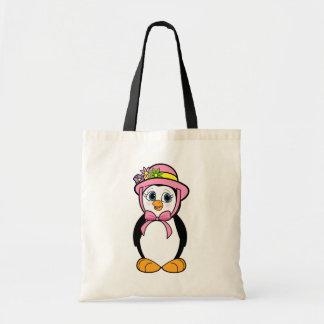 Pingüino en el capo de Pascua Bolsa Tela Barata