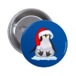 Pingüino en el gorra de Santa