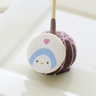 Pingüino en estallidos de la torta del amor
