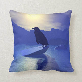 Pingüino en la almohada del flujo del hielo