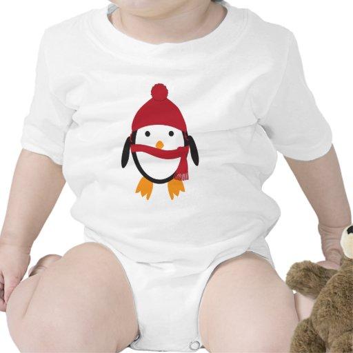 Pingüino en Red Hat Trajes De Bebé