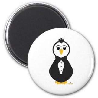 Pingüino en smoking iman para frigorífico