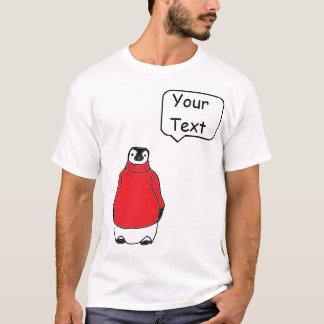 Pingüino en suéter con la burbuja custumizable del