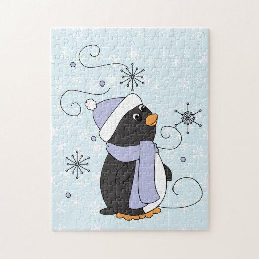Pingüino en temor puzzles con fotos