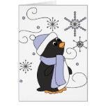 Pingüino en temor tarjeton