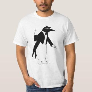 Pingüino en un smoking - refresqúese como remeras