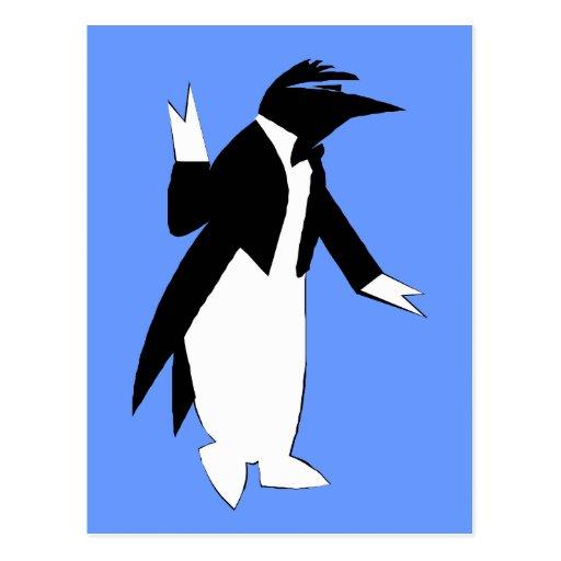 Pingüino en un smoking - refresqúese como tarjeta postal