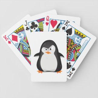 Pingüino enojado baraja cartas de poker