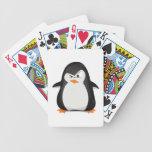 Pingüino enojado barajas de cartas