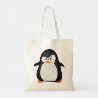 Pingüino enojado bolsa tela barata