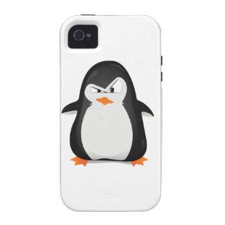 Pingüino enojado Case-Mate iPhone 4 carcasa