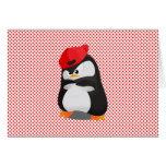 Pingüino enojado de Hip Hop Tarjetas