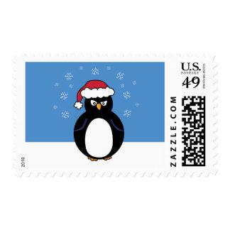 Pingüino enojado del navidad