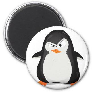 Pingüino enojado imanes para frigoríficos