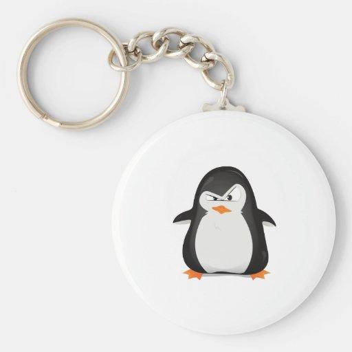Pingüino enojado llaveros personalizados