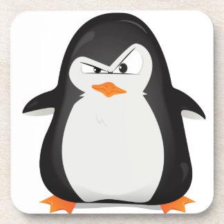 Pingüino enojado posavasos